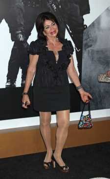 Lionsgate Films Premiere for 'The Expendables 2' at Grauman's Chinese Theatre in Hollywood, California. Pictured: Jackie Stallone Ref: SPL425266  150812   Picture by: Russ Einhorn / Splash News Splash News and Pictures Los Angeles:	310-821-2666 New York:	212-619-2666 London:	870-934-2666 photodesk@splashnews.com