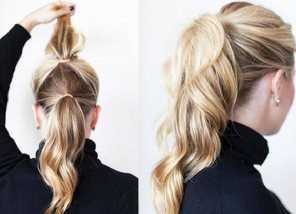 Домашняя укладка волос объемная