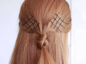 Домашняя укладка волос скрепками