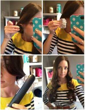 Домашняя укладка волос завитки