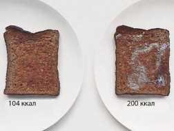 калорийность тостов