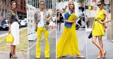 Как носить трендовый желтый