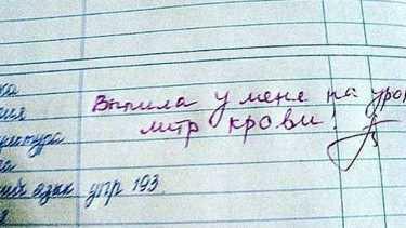 Записи учителей в школьных дневниках