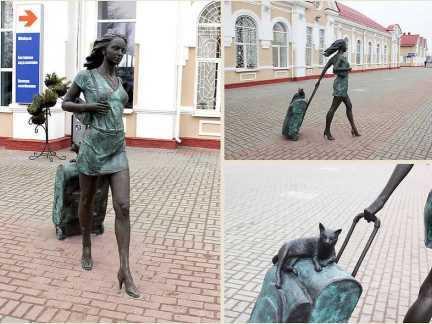 Памятник девушке фото 2