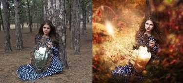 фотошоп девушек до и после