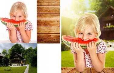 обработка фотошоп до и после